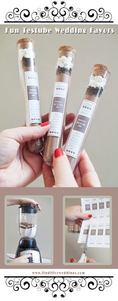 Fun DIY  wedding favor ideas that taste great www.finditforweddings.com sweet treats