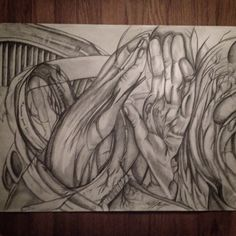 "Original abstract pencil drawing. The subject matter is variable, plentiful, and completely open for interpretation. Three sized prints available: 8.5X11"" $20, 11x14 $35, 18x24 $55."
