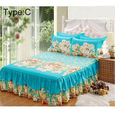 2018 High Quality New Sanding Bedspread Queen Bed Skirt Thickened Fitted Sheet Single Double Bed Dust Ruffle Wholesale . Category: Home & Garden. Subcategory: Home Textile. Double King Size Bed, Super King Size Bed, Double Beds, Draps Design, Luxury Bedspreads, Queen Size Bedspread, Chenille Bedspread, Bed Cover Design, Designer Bed Sheets