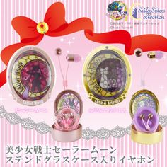 NEW Sailor Moon Stained Glass Case & Earphones! more info & preorder links: http://www.sailormooncollectibles.com/2016/03/29/sailor-moon-stained-glass-case-earphones/