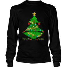 Cool and Awesome Yoga- Namaste holiday Shirt Hoodie Namaste Yoga, My T Shirt, Hoodies, Sweatshirts, Yoga Fitness, Shirt Style, Christmas Sweaters, Tees, Holiday