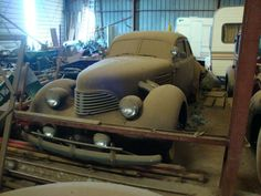 Cord barn find.1941 Graham Hollywood automobile. Graham Paige used Cord body stampings.