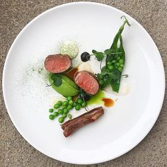 Lamb fillet & belly, peas, mint, sour cream & garlic #instagood #photooftheday #igers #iphoneonly #instagramhub #picoftheday #instahub #life #iphonegraphy #food #foodporn #gastroart #chefstalk #TheArtOfPlating #chefsroll #chefsofinstagram #foodie