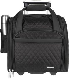 Travelon Wheeled Underseat Carry-On with Back-Up Bag Black - via eBags.com! 14x12x8.5