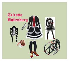 """Celestia Ludenberg"" by ruby-bear ❤ liked on Polyvore featuring art"