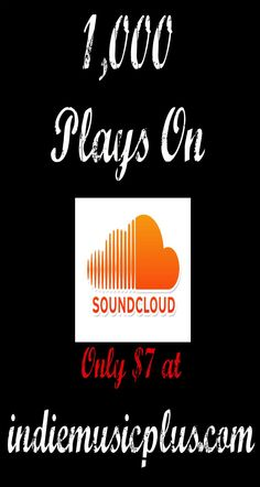 We promote your #Soundcloud song until we've bumped it up 1,000 plays!