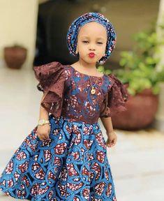 Ankara Styles For Kids; Little Girls And Baby Girls Ankara Styles Baby African Clothes, African Dresses For Kids, Latest African Fashion Dresses, African Dresses For Women, African Print Dresses, Dresses Kids Girl, Ankara Fashion, Ankara Styles For Kids, Moda Afro