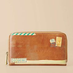 And matching wallet with postal marks, stamps and washy tape look.