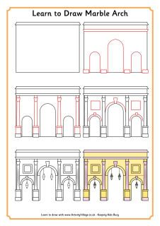 Learn to draw Marble Arch and many other famous London landmarks