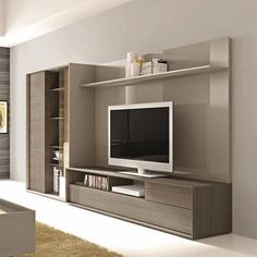 Tv entertainment wall unit modern lacquered entertainment wall unit with display shelves prepossessing units tv entertainment . Living Room Tv, Living At Home, Living Room Furniture, Modern Tv Cabinet, Modern Wall Units, Tv Entertainment Wall, Entertainment Centers, Media Wall Unit, Muebles Living