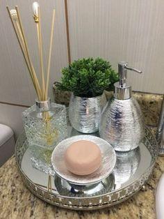 58 Fantastic Bathroom Countertop Ideas Look Elegant ~ Concrete Countertops Bathroom, Countertop Redo, Bathroom Counter Decor, Redo Bathroom, Bathroom Toilets, Design Bathroom, Bathroom Organisation, Organization, Organizing