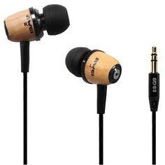 Design fa betétel fülhallgató mobilhoz - bedugós füles textil kábellel Ipod, Headphones, Fa, Electronics, Design, Headpieces, Ear Phones, Ipods