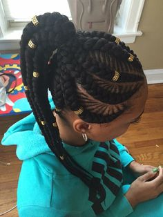 Cornrows and goddess braids.