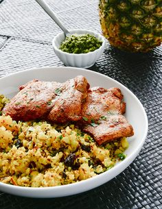 Tandoori chicken & curry pineapple cauliflower rice | Mel Joulwan | Whole 30 recipe