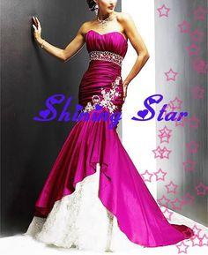 full length hot pink dress - Google Search