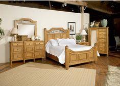 Grand Shores Bedroom Set - The Mackinac Bridge in the headboard!