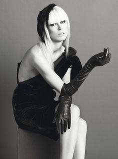 Lanvin's black velour dress, at Barneys New York, New York