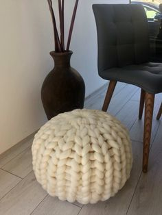 a7c39e3e773a 9 Best Knitted pouffe images