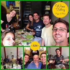 Hoje em Poggio al Bosco tivemos uma degustação com brasileiros Wine Tasting Experience, Baseball Cards