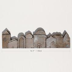 Ceramic houses tile.