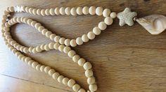 Sautoir ivoire tendance bois nacre coquillage : Collier par les-ptits-pois-sont-rouges