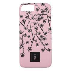 Modern, Stylish Pink Flowers iPhone 7 Case