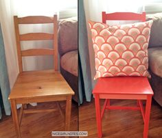 this makes me want to refinish my entire dining room set...right now. {nicegirlnotes.com}
