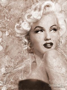 Theo Danella Painting - Marilyn Danella Ice Sepia by Theo Danella