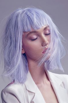 Periwinkle likes a classic cut #ghdpastels #periwinkle