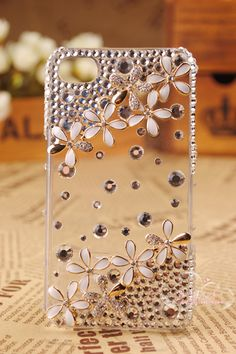 3D Alloy Rhinestone Camellia DIY Mobile Phone iphone Shell Deco Den Kit | eBay