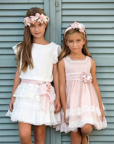 Craft Amaya, abiti - Italiano Newest Hair Design Cute Girl Dresses, Little Girl Dresses, Flower Girl Dresses, Fashion Kids, Little Girl Fashion, Paris Mode, Communion Dresses, Occasion Dresses, Pretty Outfits