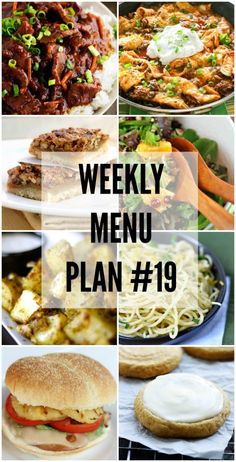 An all new delicious menu plan to help you plan out your meals for next week!