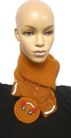PATTERN ONLY Loom Knit Crochet Gingerbread Man by ScarFanatic, $5.50