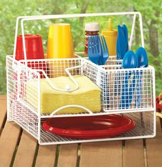 Easy Carry BBQ Picnic Caddy Utensil Holder In Our Catalog: Easy Carry BBQ Picnic Caddy Availability: Backorder – Ships by 9/26/2014 Item...