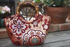 Obi / Kimono / Bag / PK621 Flower Pattern Antique by RummyHandmade, $55.00