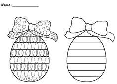 Cufarul Patriciei: Activitati - Grafisme Easter Coloring Pages, Grande Section, Easter Printables, Pre Writing, Teacher Hacks, Preschool Worksheets, Fine Motor Skills, Easter Crafts, Easter Bunny