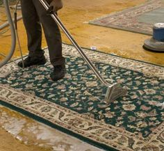cleanning a rug