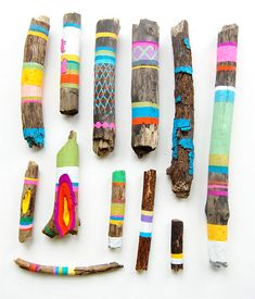 painted sticks. fun activity for this summer