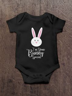 Excited to share the latest addition to my #etsy shop: Baby Easter Onesie, I'm Somebunny Special, Baby Easter shirt, Bunny Shirt, Kids tops & tees, Infant Easter shirt, Bunny Rabbit Shirt Onesie http://etsy.me/2FjQl4J