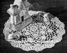 Enchanted Castle doily free vintage crochet doilies patterns