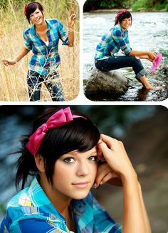 Picture Ideas for Girls. Good for senior portraits, laid back.