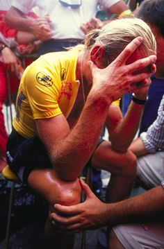 Fignon loses the 1989 Tour de France by 8 second on the on the final day to Greg LeMond.