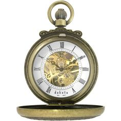 Dakota Vintage Mechanical Pocket Watch ($80) ❤ liked on Polyvore featuring men's fashion, men's jewelry, men's watches, gold, mens pocket watch, mens roman numeral watches, mens skeleton watches, mens thick gold chains and mens white watches Sale! Up to 75% OFF! Shop at Stylizio for women's and men's designer handbags, luxury sunglasses, watches, jewelry, purses, wallets, clothes, underwear & more!
