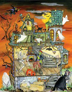 Night Before Halloween Countdown Calendar | Halloween | Vermont Christmas Co. VT Holiday Gift Shop