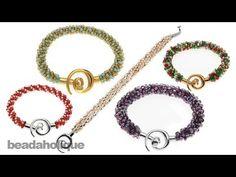 Instructions for Making the Beaded Kumihimo Bracelet Kit - YouTube