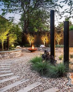 Green colours are great for human eyes and offer many fabulous green colour hues that allow to add depth to natural garden design Modern Landscape Design, Garden Landscape Design, Modern Landscaping, Backyard Landscaping, Landscaping Ideas, Backyard Patio, Backyard Planters, Modern Backyard, Backyard Retreat