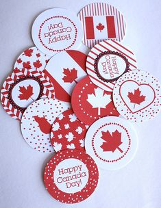 Jenn's Random Scraps: Get Your Canada Day On Canada Day 150, Canada Day Party, Happy Canada Day, Canadian Party, Canada Day Fireworks, Canada Day Crafts, Canada Holiday, World Thinking Day, Paper Crafts