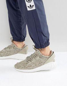 8897ea5be31b adidas Originals Tubular Doom Sock Primeknit Sneakers In Beige BY3561