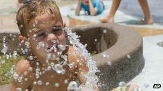 """Dozens of people across western US states have been treated for #exhaustion and #dehydration, as the region is continuing to bake in a heat wave.   Air-conditioned """"cooling centres"""" have been set up in #California, # Nevada and #Arizona, as officials warn the #heat could be life-threatening.     Temperatures in some areas are expected to be near 54C (130F) - close to the world's all-time record.     There are also fears of #wildfires, as the heat could last for several days  june 29 2013"""