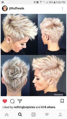 Hairstyles for short hair Neuste Kurzhaar Frisuren - Últimos penteados curtos - Latest Short Hairstyles, Pretty Hairstyles, Hairstyle Ideas, Bridal Hairstyle, Asymmetrical Hairstyles, Short Girl Hairstyles, Edgy Pixie Hairstyles, Short Pixie Haircuts, Casual Hairstyles